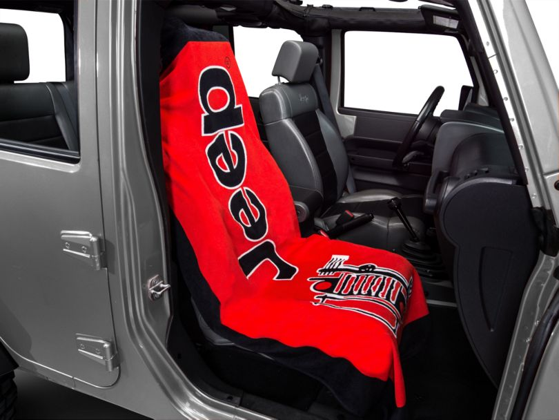 Seat Armour Towel 2 Go - Red (87-20 Jeep Wrangler YJ, TJ, JK & JL)
