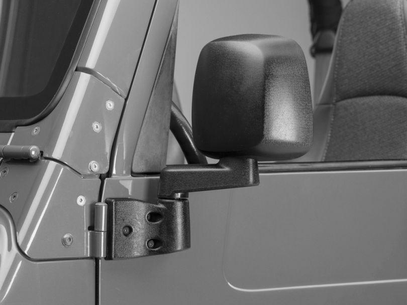 Door Mirrors; Black (87-06 Jeep Wrangler YJ & TJ)