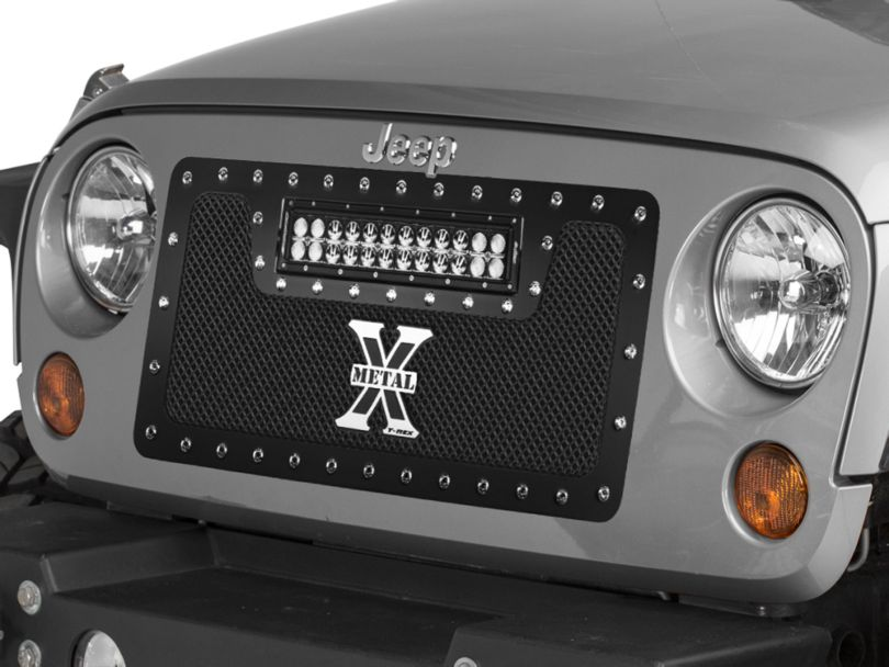 T-REX Torch Series Grille w/ 12 in. LED Light Bar (07-18 Jeep Wrangler JK)