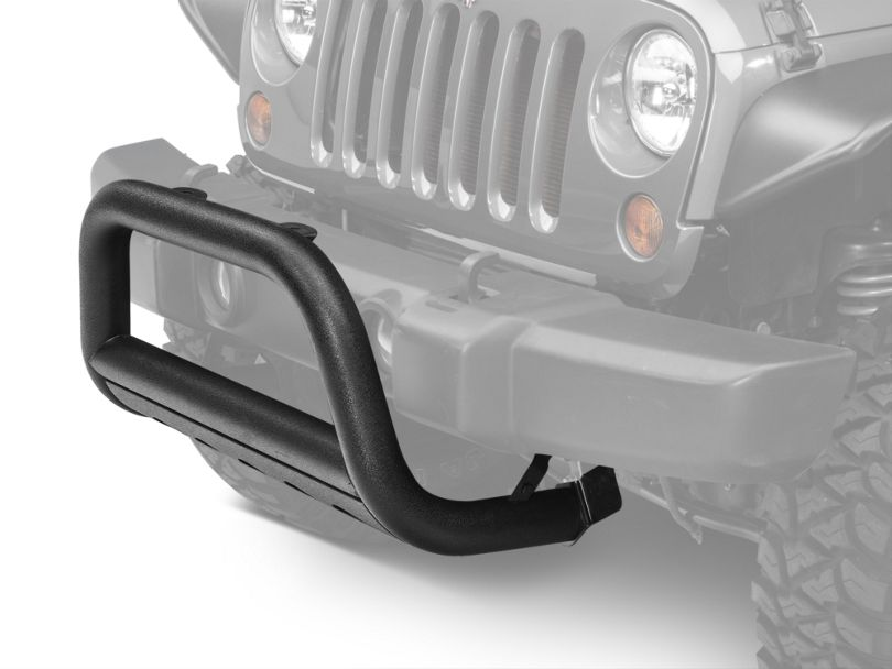 Barricade 3 in. Bull Bar w/ Skid Plate - Textured Black (07-09 Jeep Wrangler JK)