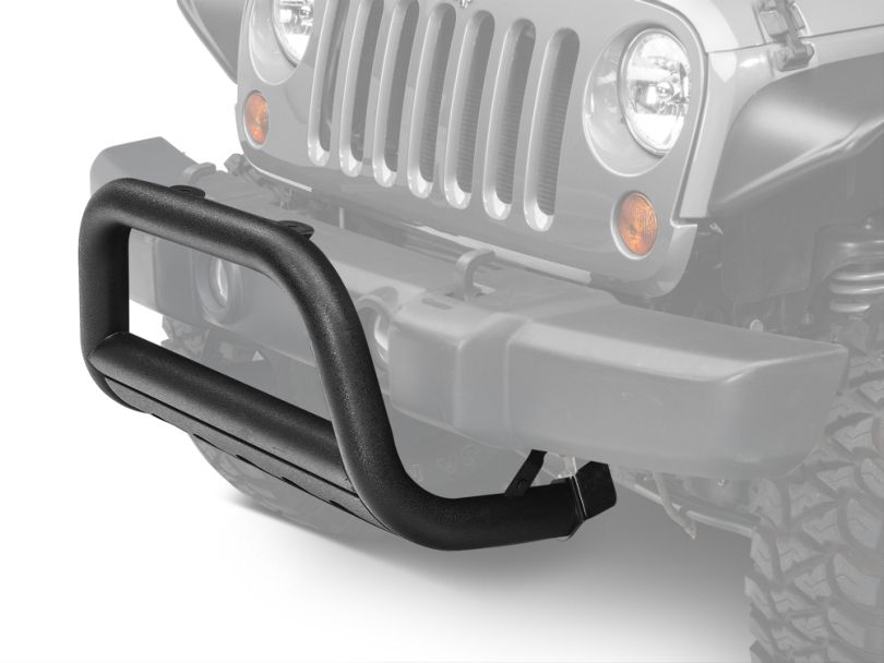 Barricade 3 in. Bull Bar w/ Skid Plate - Textured Black (10-18 Jeep Wrangler JK)
