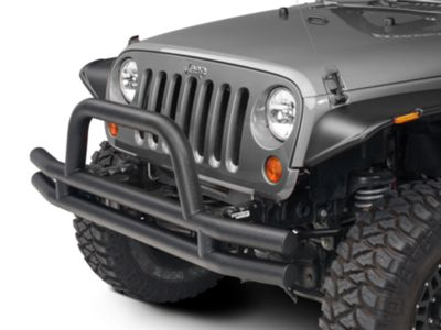 Add Barricade Front Tubular Bumper - Textured Black (07-17 Wrangler JK)