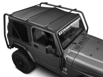 Barricade Roof Rack - Textured Black (97-06 Jeep Wrangler TJ, Excluding Unlimited)