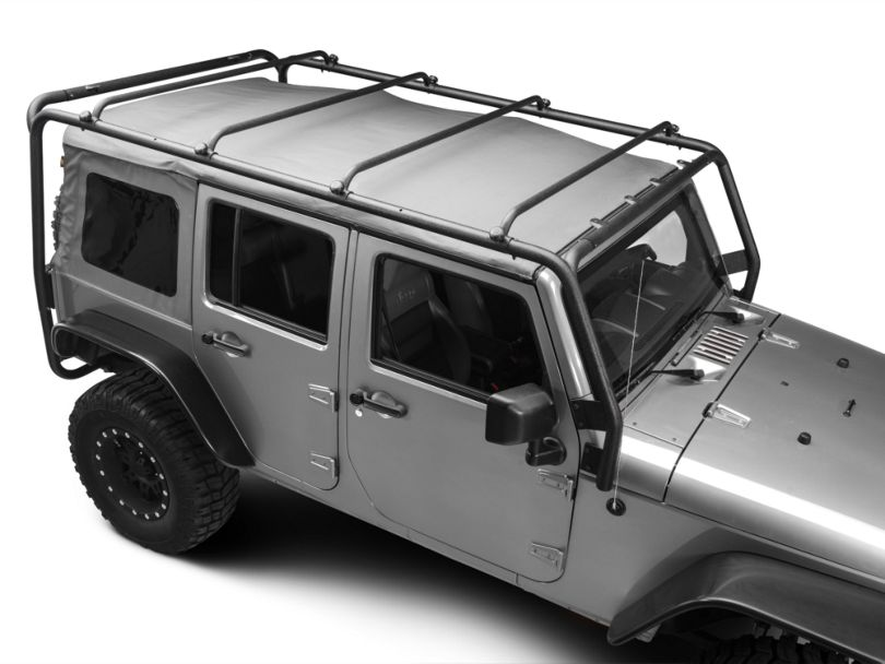 Barricade Roof Rack - Textured Black (07-18 Jeep Wrangler JK 4 Door)