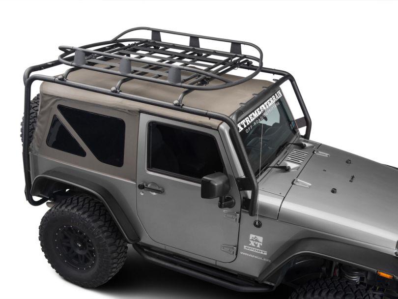 Barricade Roof Rack Basket; Textured Black (87-20 Jeep Wrangler YJ, TJ, JK & JL)