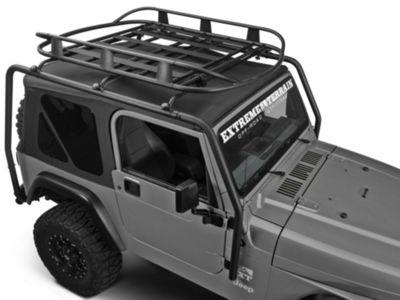 Barricade Roof Rack Basket - Textured Black (87-06 Jeep Wrangler TJ & YJ)