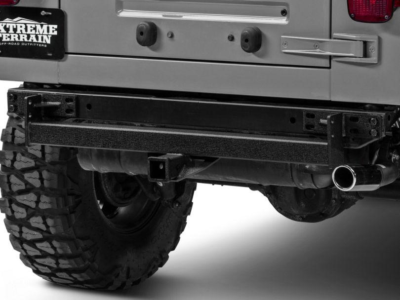 RedRock 4x4 Hitch - Textured Black (87-06 Jeep Wrangler YJ & TJ)