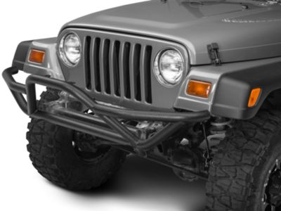 Add RedRock 4x4 Rock Crawler Front Grille Guard - Textured Black (87-06 Wrangler YJ & TJ)
