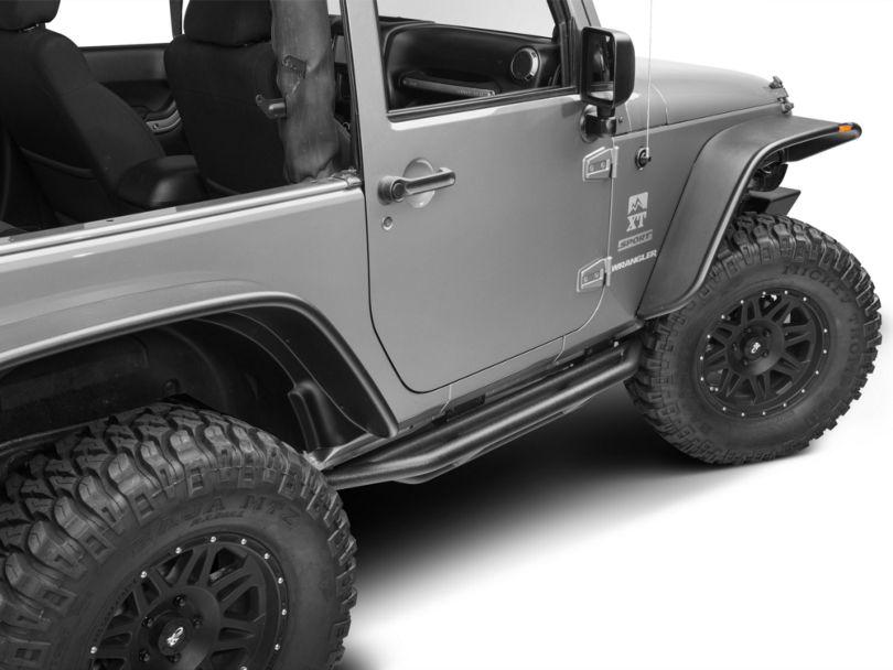 RedRock 4x4 Side Armor; Textured Black (07-18 Jeep Wrangler JK 2 Door)