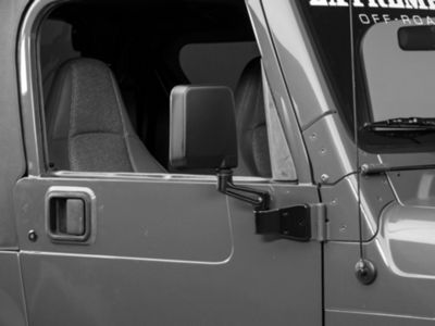 Add Replacement Mirror - Black - Right Side (87-02 Wrangler YJ & TJ)