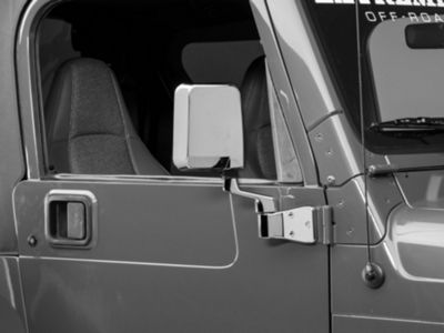 Add Right Side Replacement Mirror - Chrome (87-02 Wrangler YJ & TJ)