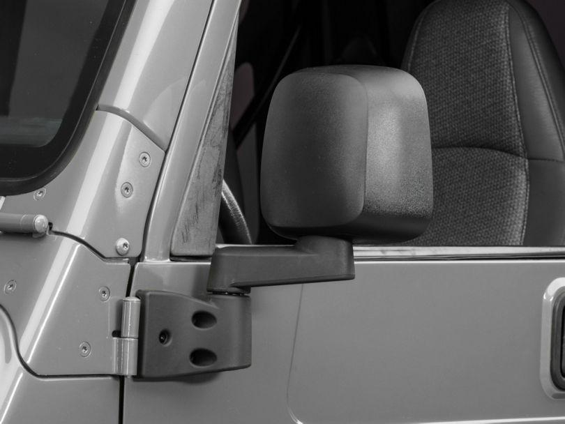 OPR Side Mirror; Driver Side; Black (03-06 Jeep Wrangler TJ)