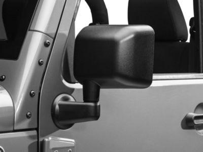 Add OPR Left Side Replacement Mirror (Power/Heated) - Textured Black (11-13 Wrangler JK)