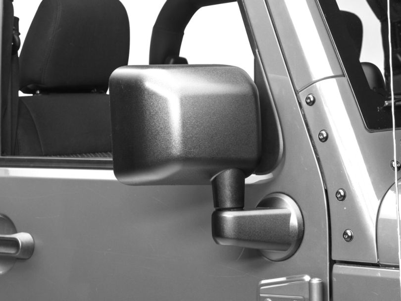 OPR Right Side Replacement Power/Heated Mirror - Textured Black (11-13 Jeep Wrangler JK)