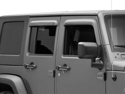 Add Rugged Ridge Window Visors Matte Black (07-17 Wrangler JK 4 Door)