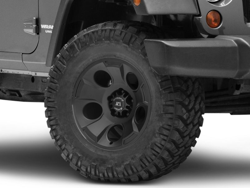Rugged Ridge Drakon Satin Black Wheel; 17x9 (07-18 Jeep Wrangler JK)
