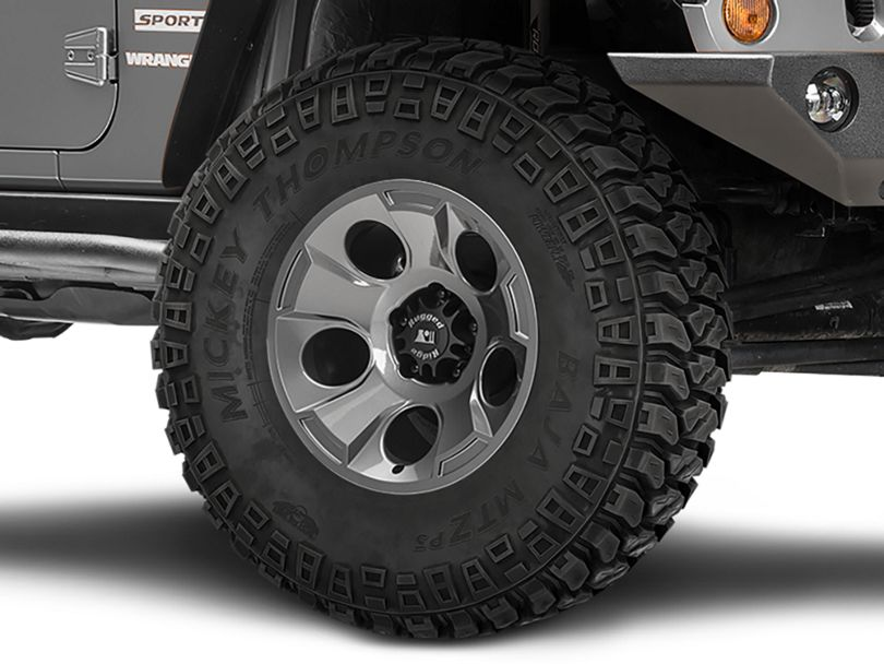 Rugged Ridge Drakon Gunmetal Gray Wheel; 17x9 (07-18 Jeep Wrangler JK)