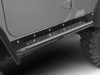 Barricade Rocker Guards w/ Steps (97-06 Jeep Wrangler TJ