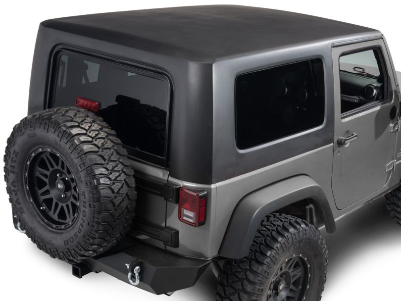 One Piece Hardtop - Black (07-18 Jeep Wrangler JK 2 Door)