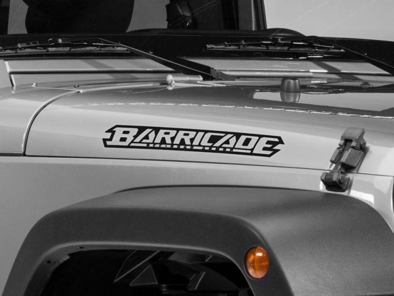 Barricade Hood Decal; Matte Black (87-20 Jeep Wrangler YJ, TJ, JK & JL)