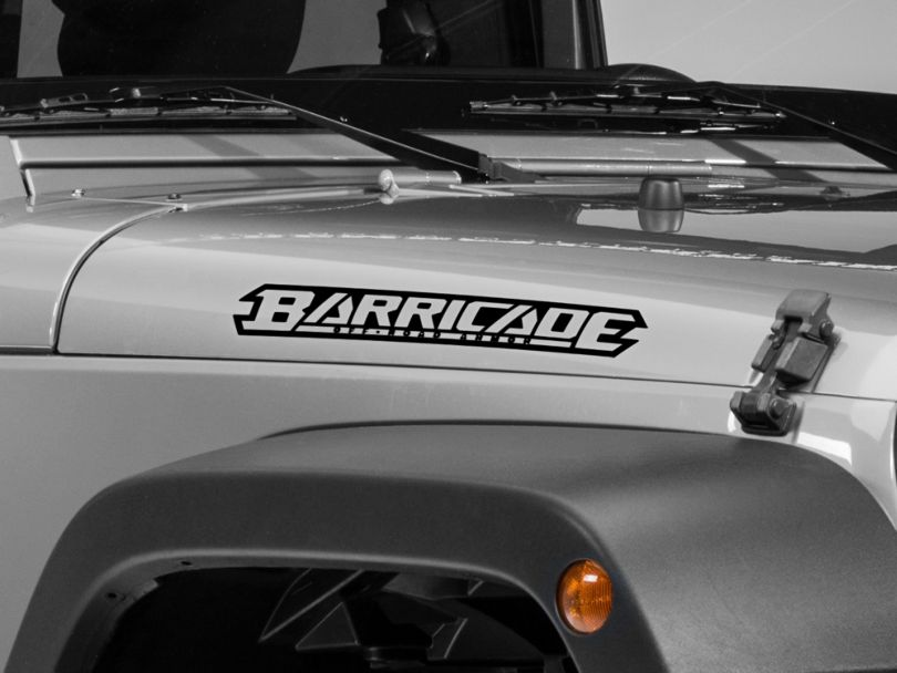Barricade Hood Decal - Black (87-20 Jeep Wrangler YJ, TJ, JK & JL)