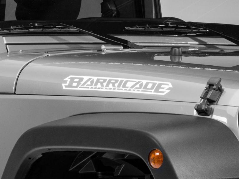 Barricade Hood Decal - White (07-18 Jeep Wrangler JK)