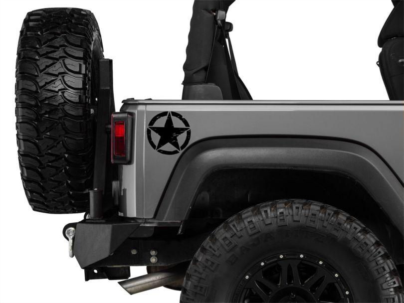 Small On The Move Stars - Black - Pair (87-20 Jeep Wrangler YJ, TJ, JK & JL)