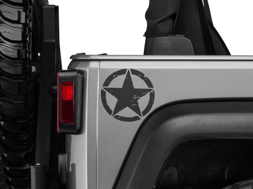 Small On The Move Stars - Matte Black - Pair (87-19 Jeep Wrangler YJ, TJ, JK & JL)
