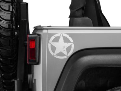XT Graphics Small On The Move Stars - Silver - Pair (87-18 Jeep Wrangler YJ, TJ, JK & JL)
