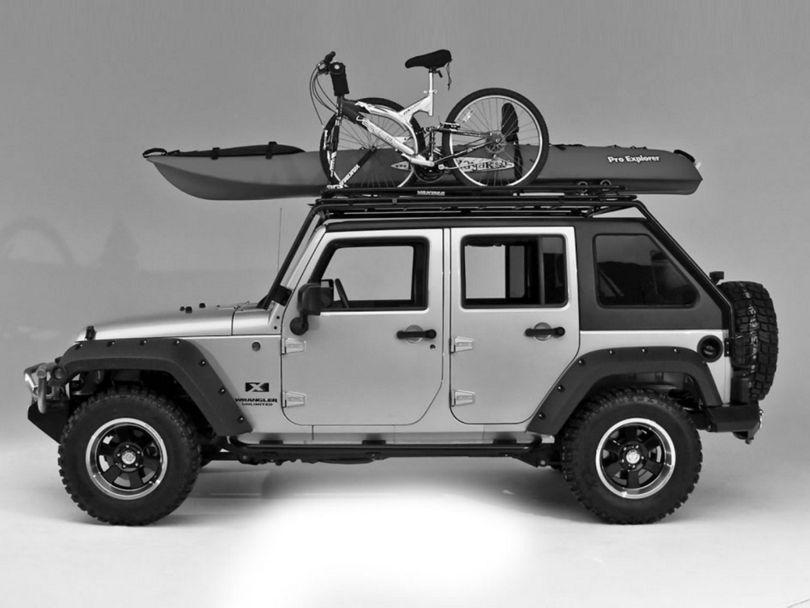 Wild Boar Fast Back Rack w/ basket (07-18 Jeep Wrangler JK 4 Door)