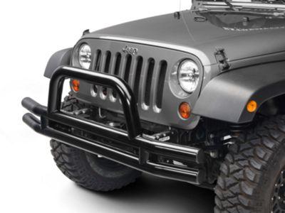 Add Barricade Front Tubular Bumper - Gloss Black (07-17 Wrangler JK)