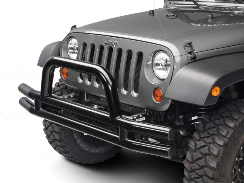 Barricade Tubular Front Bumper - Gloss Black (07-18 Jeep Wrangler JK)