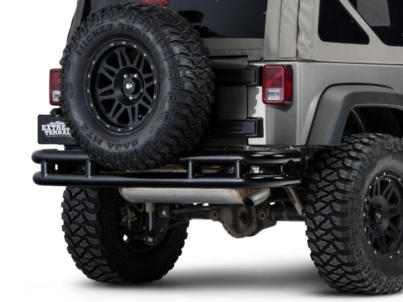 Barricade Rear Tubular Bumper w/ Wrap-around - Gloss Black (07-18 Jeep Wrangler JK)