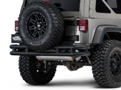 Add Barricade Rear Tubular Bumper w/ Wrap-around - Textured Black (07-17 Wrangler JK)