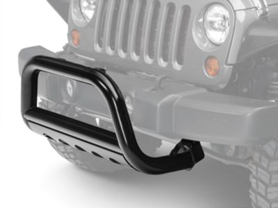 Barricade 3 in. Bull Bar w/ Skid Plate - Gloss Black (10-18 Jeep Wrangler JK)