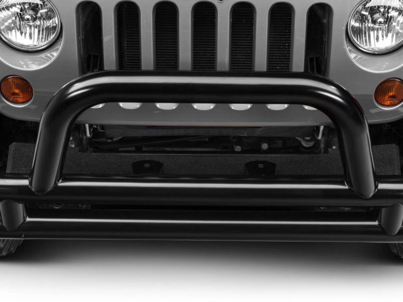 RedRock 4x4 Front Fill Plate - Textured Black (07-18 Jeep Wrangler JK)