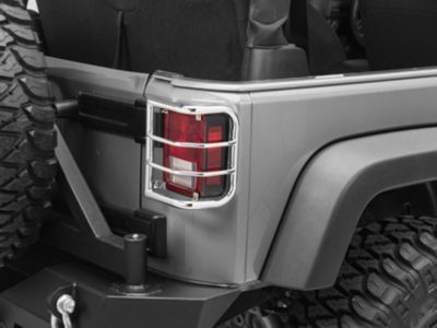 RedRock 4x4 Wrap Around Tail Light Guard - Stainless Steel (07-18 Jeep Wrangler JK)