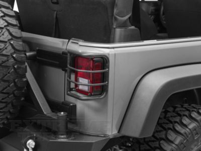 Add RedRock 4x4 Wrap Around Tail Light Guard - Textured Black (07-17 Wrangler JK)