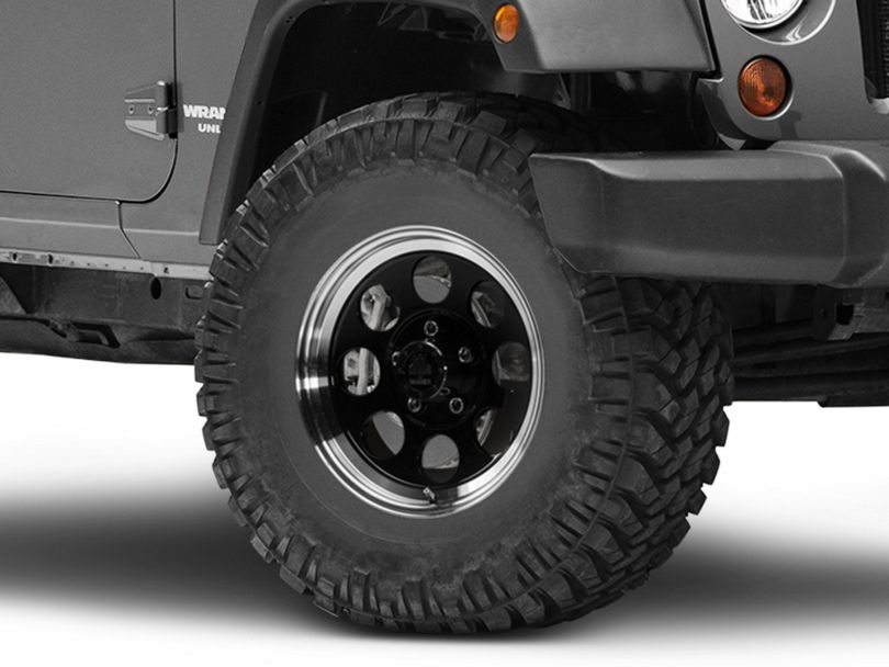 Mammoth 8 Aluminum Black Wheel - 16x8 (07-18 Jeep Wrangler JK)
