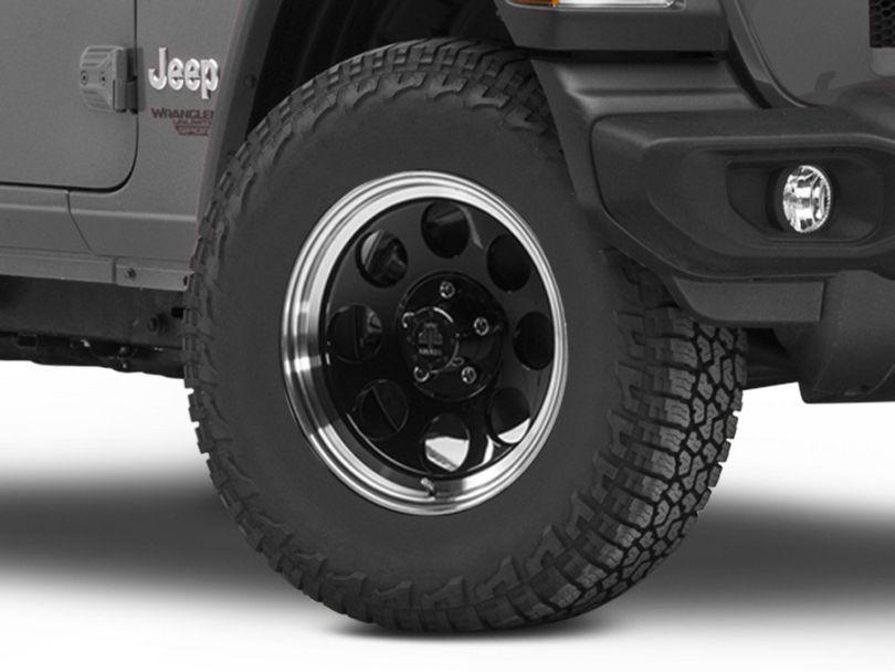 Mammoth 8 Aluminum Black Wheel; 17x9 (18-20 Jeep Wrangler JL)