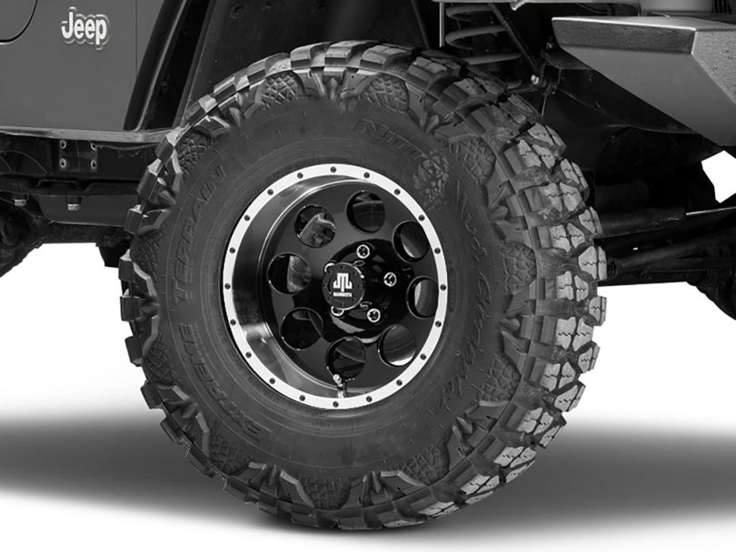 Mammoth 8 Beadlock Style Black Wheel - 15x8 (97-06 Jeep Wrangler TJ)