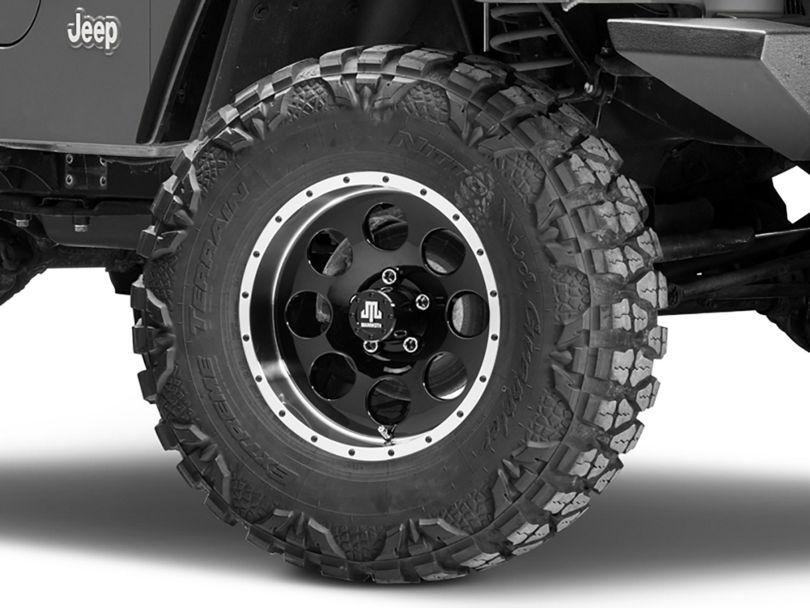 Mammoth 8 Beadlock Style Black Wheel; 16x8 (97-06 Jeep Wrangler TJ)
