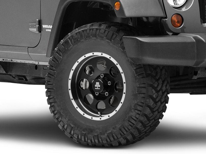 Mammoth 8 Beadlock Style Black Wheel - 16x8 (07-18 Jeep Wrangler JK)
