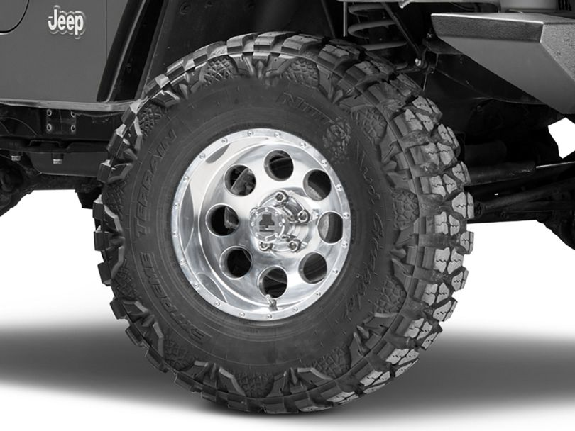 Mammoth 8 Beadlock Style Polished Wheel - 15x8 (97-06 Jeep Wrangler TJ)