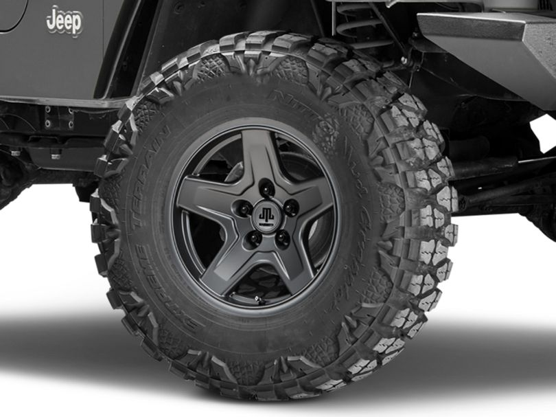 Mammoth Boulder Charcoal Wheel - 16x8 (97-06 Jeep Wrangler TJ)
