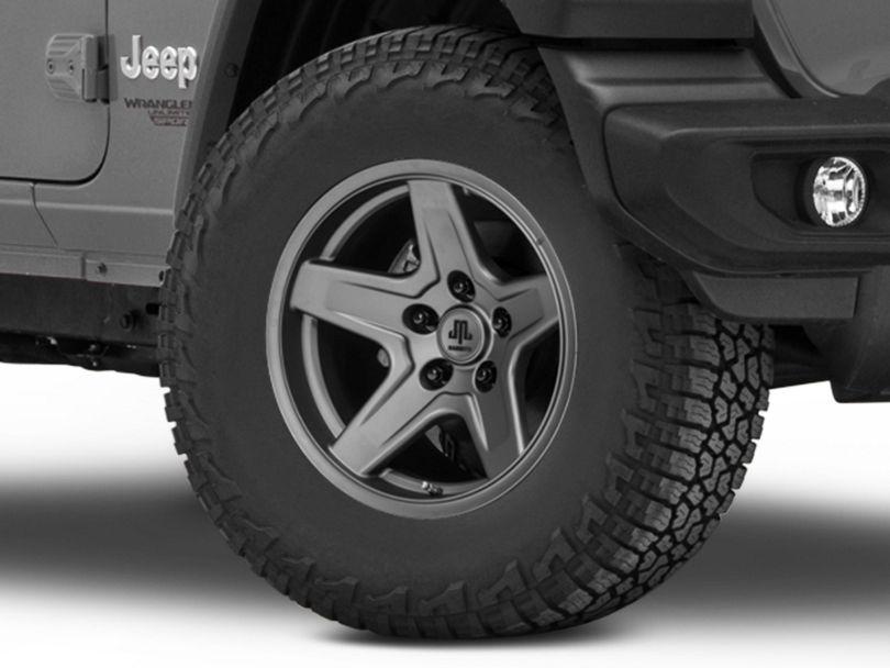 Mammoth Boulder Charcoal Wheel; 17x9 (18-20 Jeep Wrangler JL)