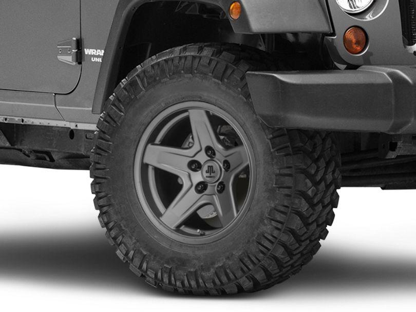Mammoth Boulder Charcoal Wheel; 17x9 (07-18 Jeep Wrangler JK)