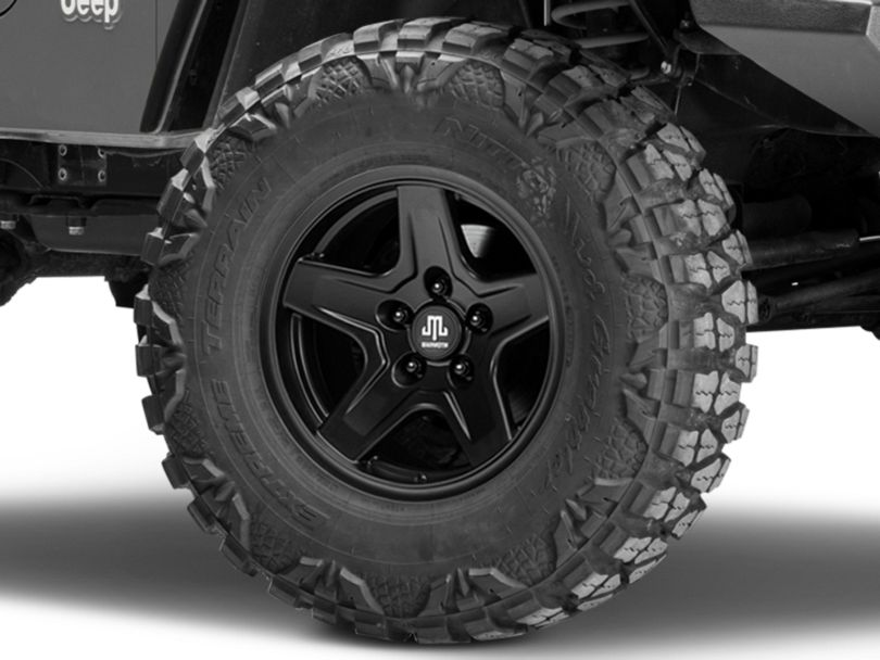 Mammoth Boulder Black Wheel - 16x8 (97-06 Jeep Wrangler TJ)