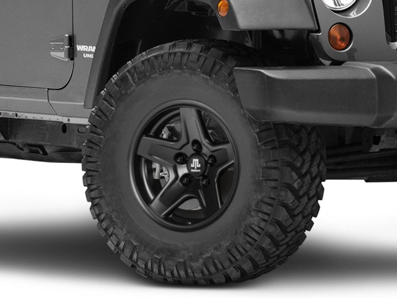 Mammoth Boulder Black Wheel - 16x8 (07-18 Jeep Wrangler JK)