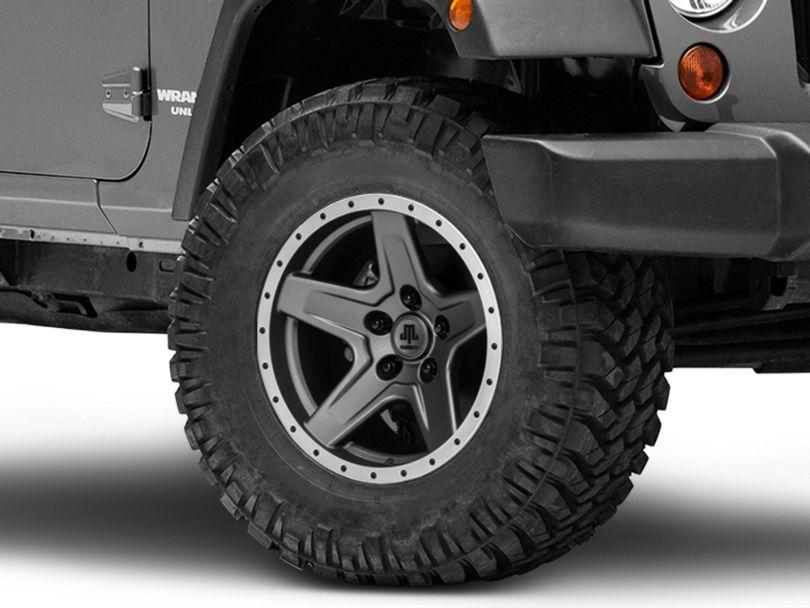 Mammoth Boulder Beadlock Style Charcoal Wheel - 17x9 (07-18 Jeep Wrangler JK)
